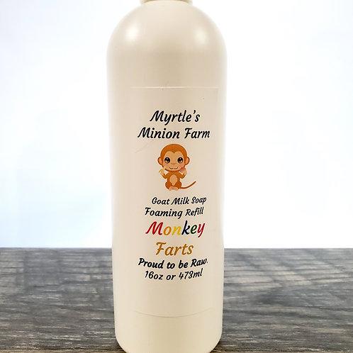 Monkeyfarts REFILL Liquid Hand Soap  (Foaming Pump)