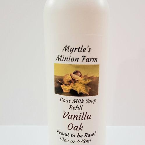 Vanilla Oak REFILL Liquid Hand Soap  (Regular Pump)