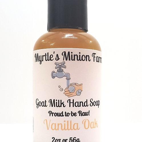 Vanilla Oak Liquid Hand Soap-Travel Size