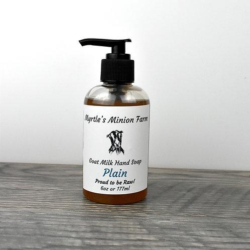 Plain (Unscented) Liquid Hand Soap  (Regular Pump)