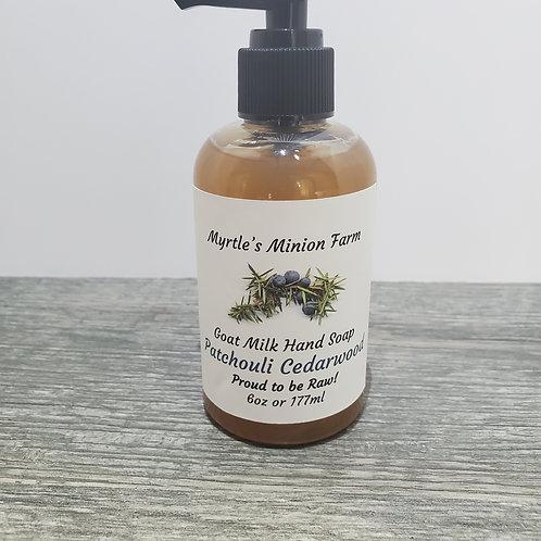 Patchouli Cedarwood Liquid Hand Soap  (Regular Pump)