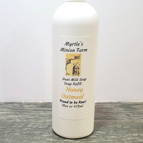 Honey Oatmeal REFILL Liquid Hand Soap  (Regular Pump)