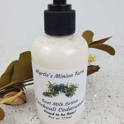 Patchouli Cedarwood Goat Milk Lotion