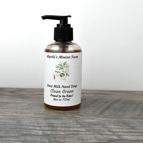 Clean Green Liquid Hand Soap (Regular Pump)