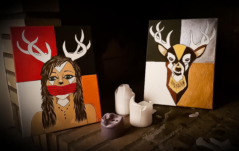 Deer and girl