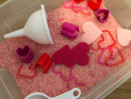 Valentine's Day Theme Sensory Bin