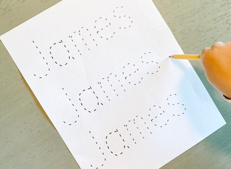 Kids Activity: Name Tracing