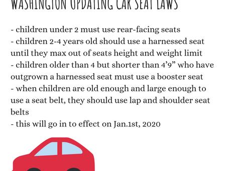 Washington Updating Car Seat Laws