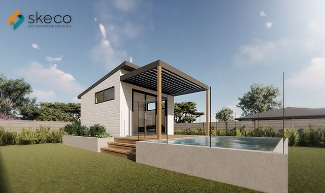 Small Pool House design for one of our c
