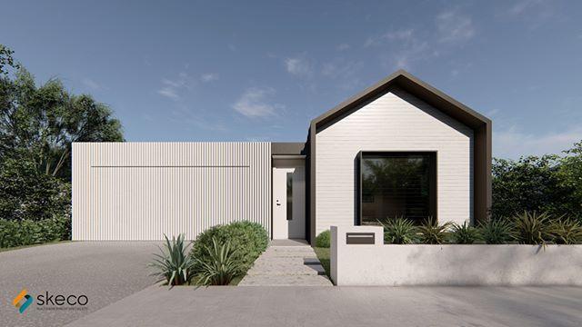 zinc aluminium modern gable.__Just one