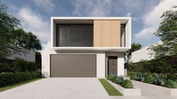 Narrow Lot Home Concept FRONT_Photo - 32