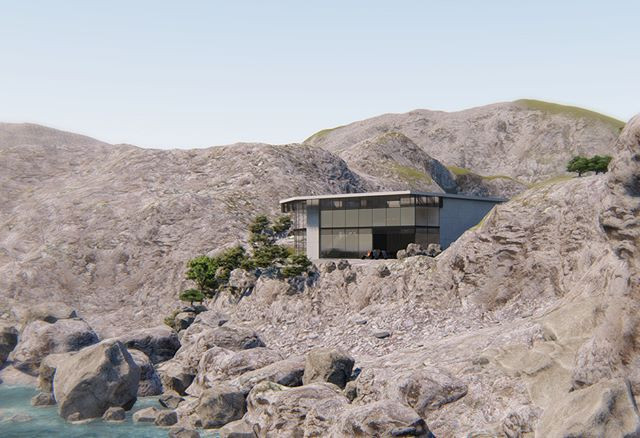Luxury Cliff-side House Concept_#archite