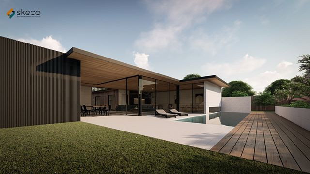 House On a Slope Concept__#SKECO #builid