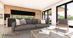 Narrow Lot Home Concept Interior -_Photo
