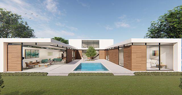 Concept for U-Shaped House. Let us desig