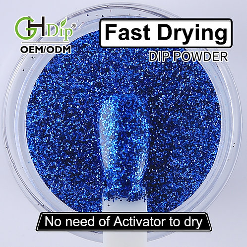 G535 Glitter Nails Fast Drying Dip Powder Organic and Healthy