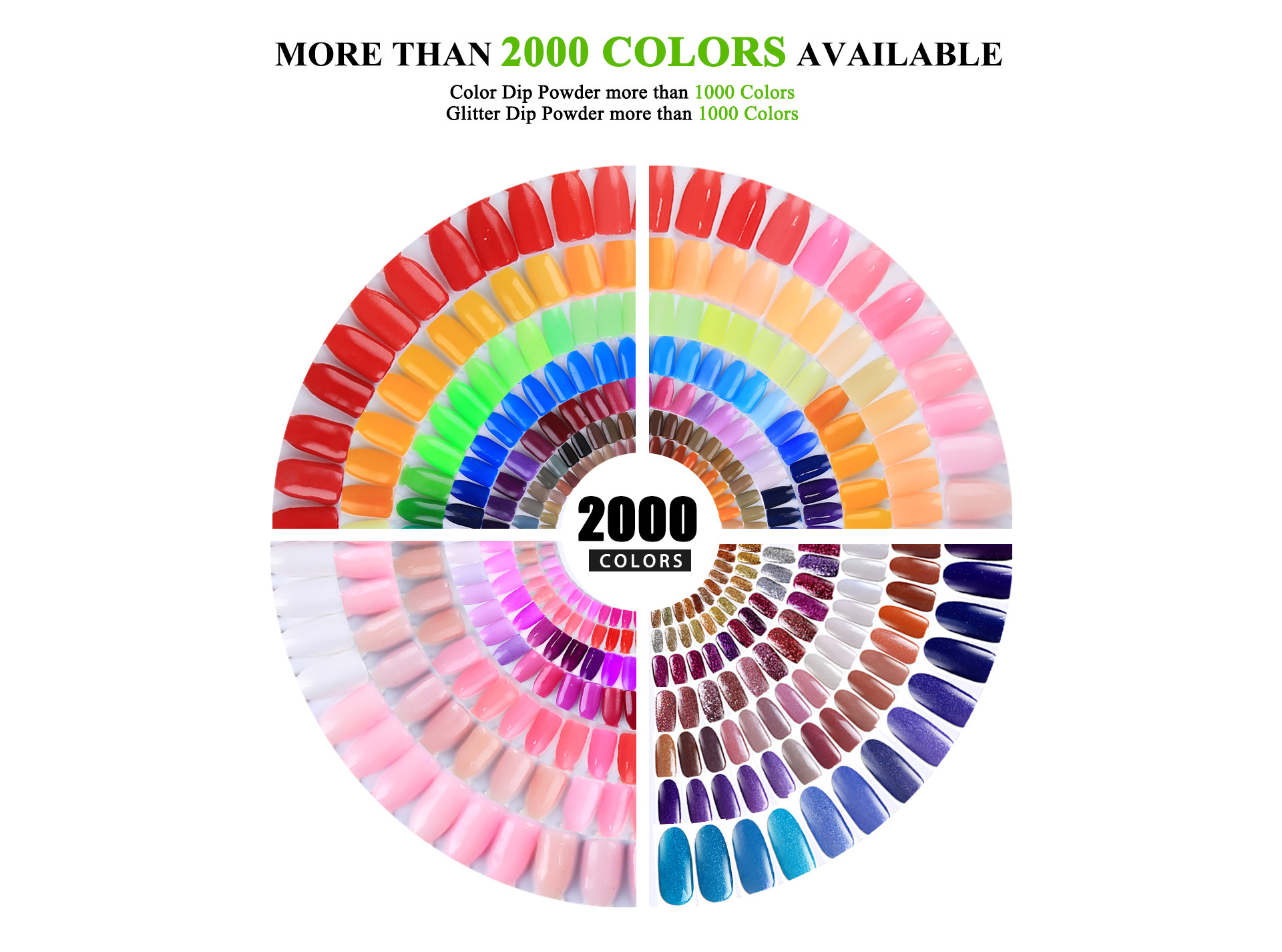 Dip Powder Colors Chart