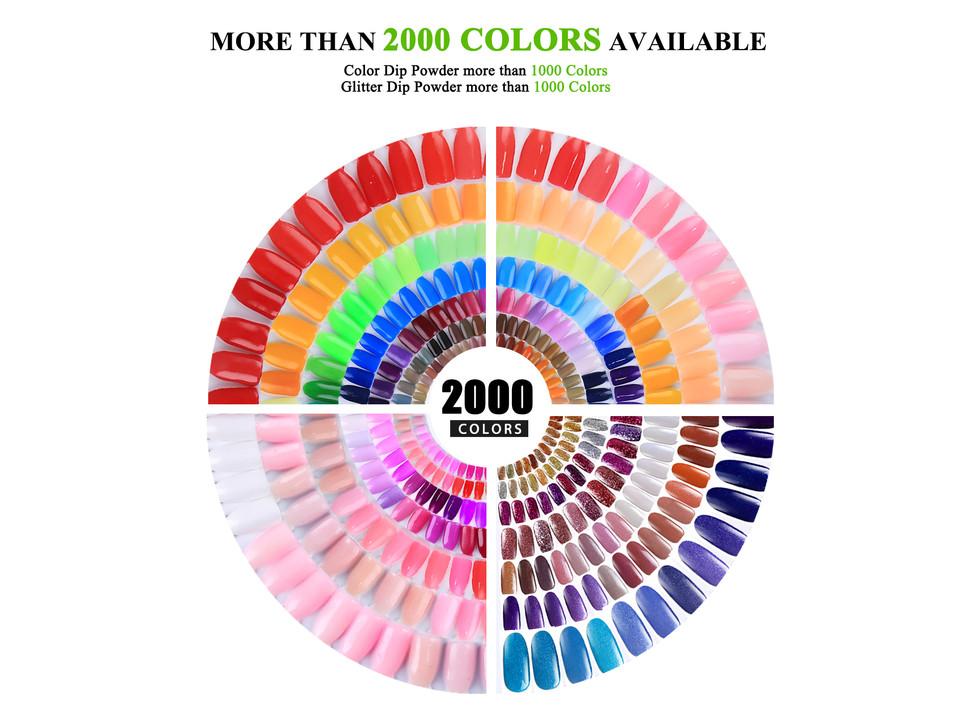 Dip Powder Colors Chart