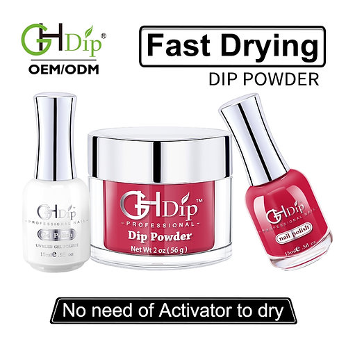 Perfect Color Match 3-in-1 Dip Powder match Gel Polish for nails and toes
