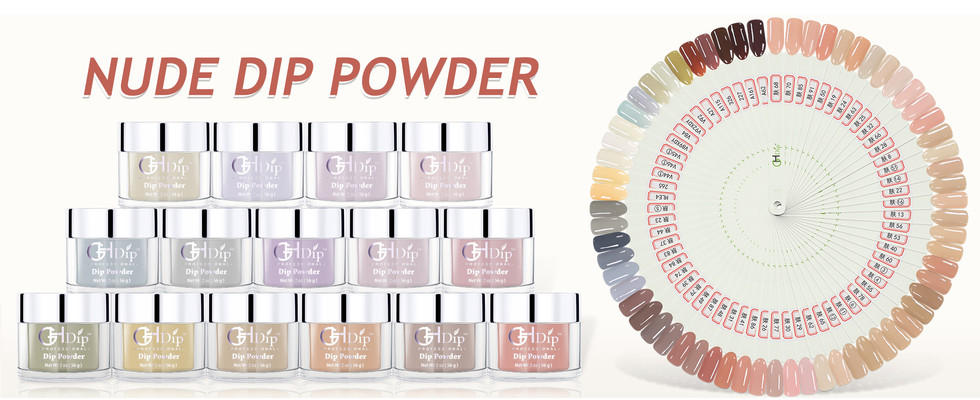 nude color dip powder for ombre nails
