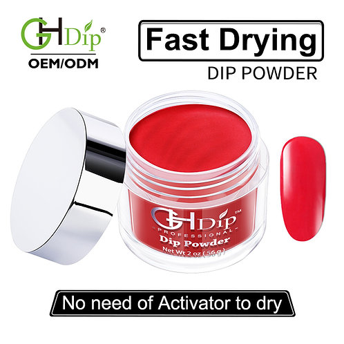 C091 Red Color Fast Drying Dip Powder