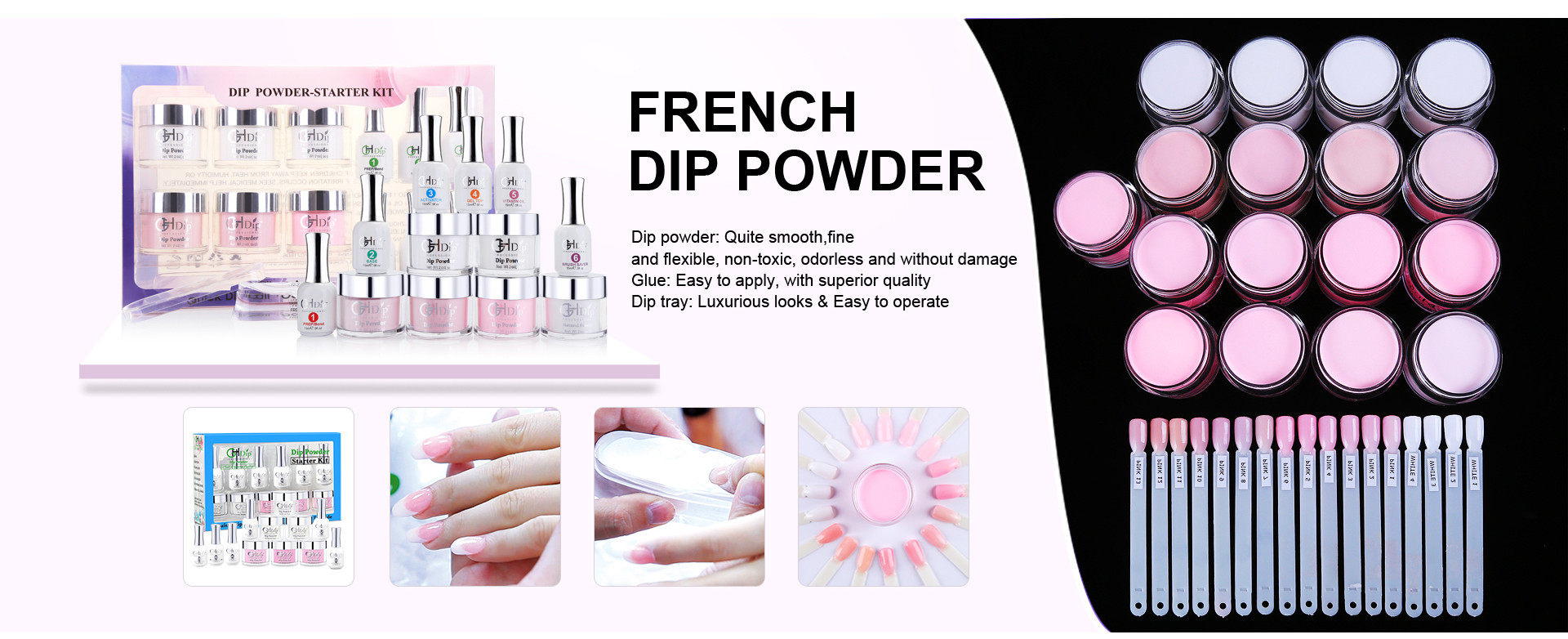 French nail Dip Powder Starter Kit
