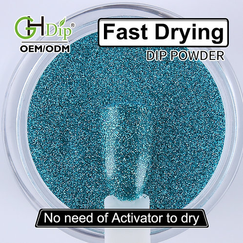 G606 Blue Color Glitter Nail Fast Drying Dip Powder