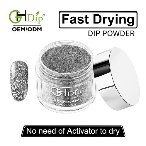 G541 Sliver Glitter Nail Fast Drying Dip Powder
