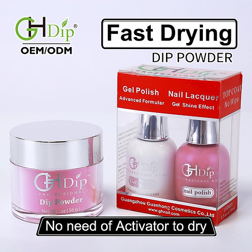 Pink Color Nail Dip Powder Perfect Match Gel Nail Polish