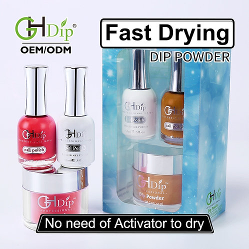 Dip Powder 3in1 set Perfect Color match gel polish and nail lacquer