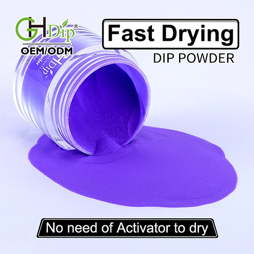 C078 Fast Drying Dip Powder Nail Purple color