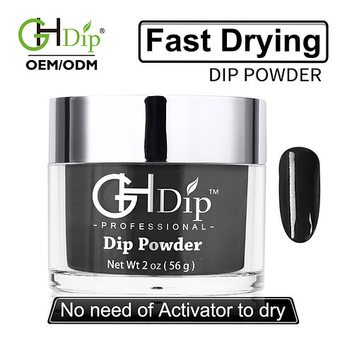 C087 Fast Drying Dip Powder Nail Black Color