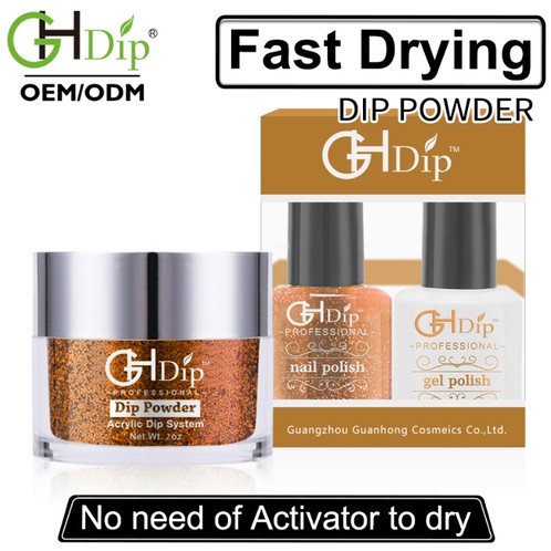Gold Glitter Nail Perfect Color Match 3-in-1,Dip Powder
