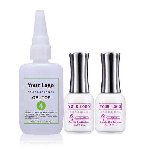 Nail Glue 2oz Refill Gel Top Coat, Dipping Liquid for Dip Powder Nails
