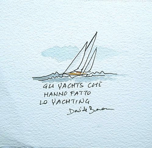 "Bozzetto copertina ""Yachts"""