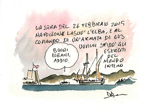 Napoleone lascia l'Elba