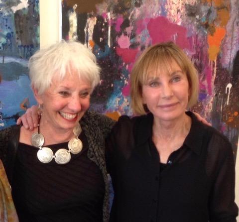 With Artist Judith Foosaner