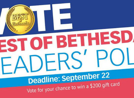 Vote for Us in Best of Bethesda Poll!