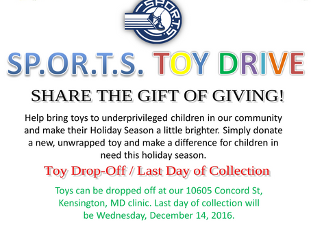 SP.OR.T.S. TOY DRIVE 2016