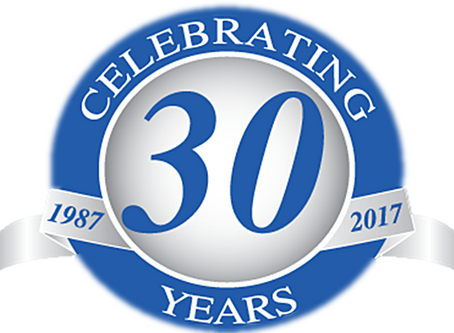 It's Our 30th Anniversary