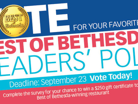 """Vote for Us in """"Best of Bethesda"""" Poll!"""