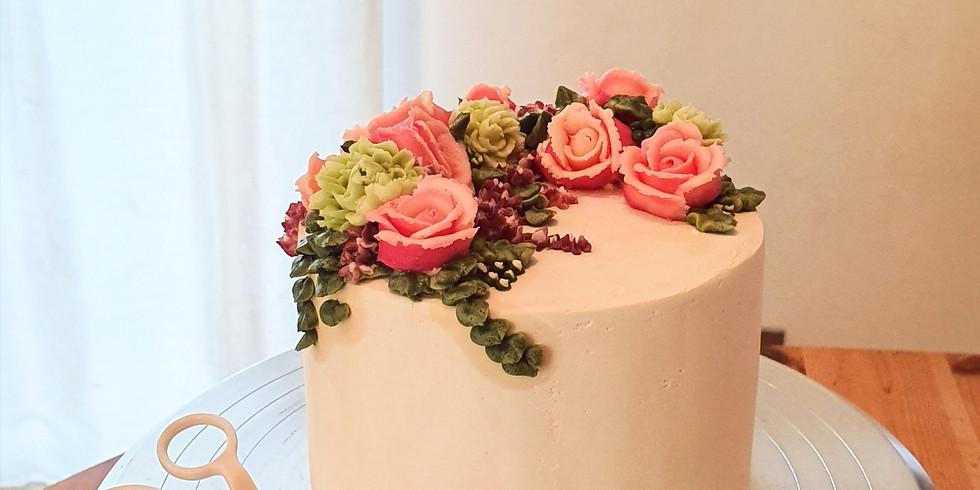 Full cake covering & flower masterclass