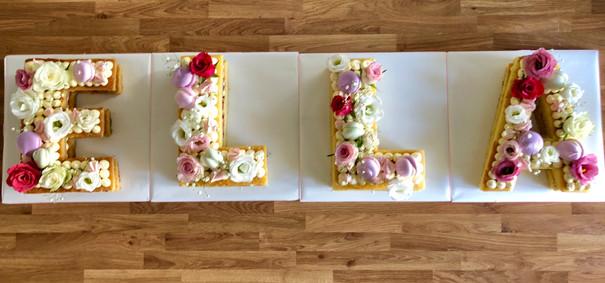 Beautiful Buttercream Letter Cakes