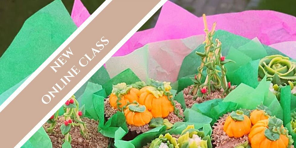 Buttercream Vegetable Patches  - Online