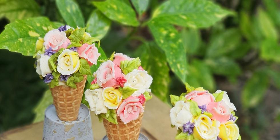 Beautiful Buttercream 'Ice Cream' Cones