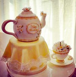 Tea Pot, Cup & Saucer