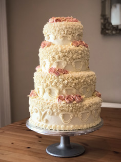 4 Tier Buttercream Wedding cake