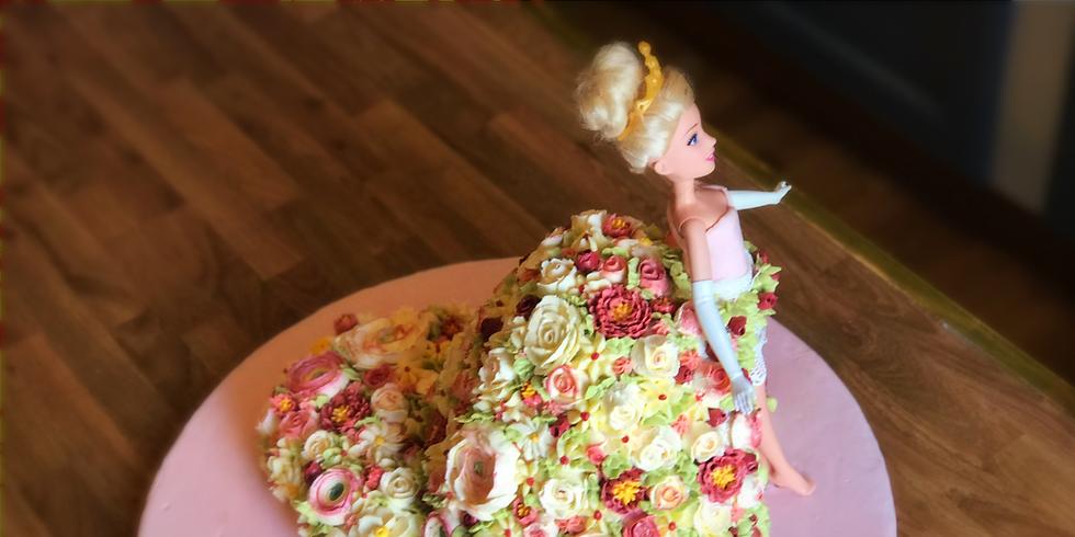 Buttercream Flower Barbie Cake