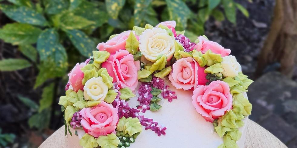 Full Cake Covering & Flower Class