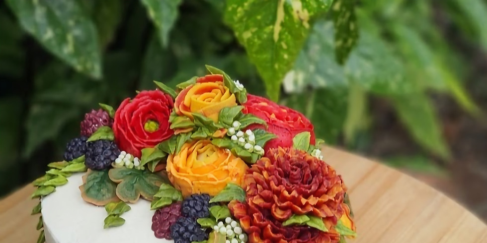 Autumn Glory- Full Day  Cake Covering & Flower Class